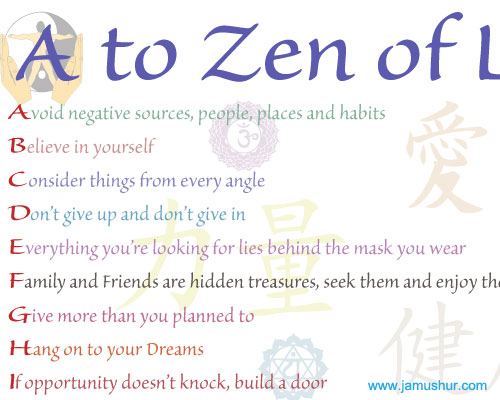 A to Zen of Life Poster
