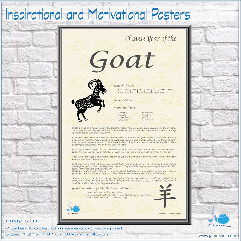 ef5c924a4 Chinese Zodiac. jamushur. Years of the Goat or Ram or Sheep: 1931 – 1943 –  1955 – 1967 – 1979 – 1991 – 2003 – 2015.